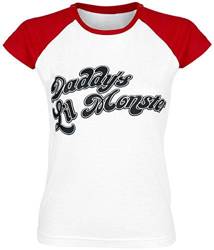 Suicide Squad Daddy's Little Monster T-shirt Femme rouge/blanc M