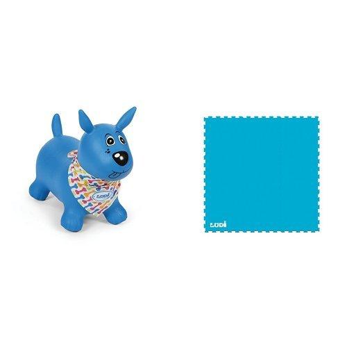 Ludi - 2776 - Mon Chien Sauteur - Bleu + Ludi - 90007 - Tapis Sport Et Loisirs - Sport - Tapis de sol en mousse