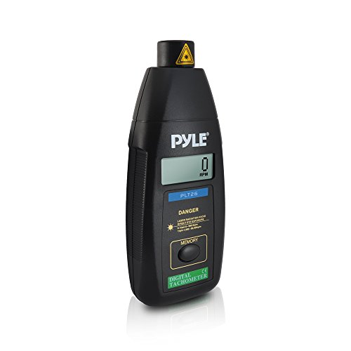 Preisvergleich Produktbild Pyle Professionelle digitale Berührungs Laser-Tachometer mit LCD-Display, 99,999 RPM Range und Tragetasche, PLT26