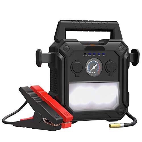 Autobatterie-Starter 2000A Auto Notstartleistung 1000W Leistung Gürtel 150 PSI Luftkompressor LED-Taschenlampe Dualer USB-Anschluss Und Zigarettenanzünder