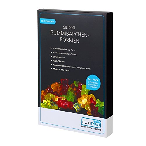 Silikon Gummibärchen-Formen mit Pipetten und Rezept - 4