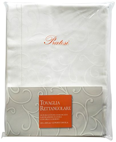 Pratesi Tovaglia, Cotone, Bianco, 166 x 268 cm