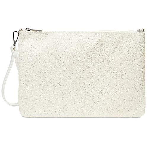 d18a9421e422d CASPAR TA341 große Damen XL Glitzer Pailletten Clutch Tasche Abendtasche  mit Handschlaufe