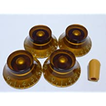 (MADE IN JAPAN)High Quality Bell Knob,Embossed,Amber,inch,Set