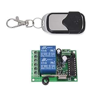 TOOGOO(R) Universel Telecommande Porte Garage Sans Fil + Transmetteur