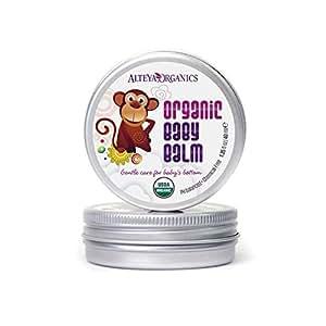 Alteya Organic Baume pour bébés 40 ml - Certifié organique par USDA GAGNANT DE PRIX Traitement pour soins de la peau de bébé Pur, bio et naturel Basé sur l'huile essentielle de Rose Bulgare
