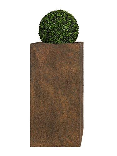 PFLANZWERK® Pflanzkübel Fiberglas TOWER Rost Braun 60x28x28cm XXL *Frostbeständig* *UV-Schutz* *Qualitätsware*