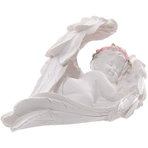 Statuetta decorativa di angelo cherubino addormentato, idea regalo per mamme/nonne