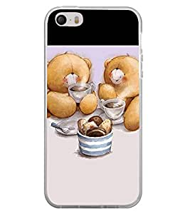 Cute Bear Couple 2D Hard Polycarbonate Designer Back Case Cover for Apple iPhone 4