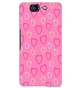 MICROMAX A350 CANVAS KNIGHT HEART PATTERN Back Cover by PRINTSWAG