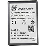 LG G3 D855 (Europa) D850 (AT & T) D851 (T-Mobile) D852 (Canadá) Mugen Energía - 3100mAh Batería extendida delgada