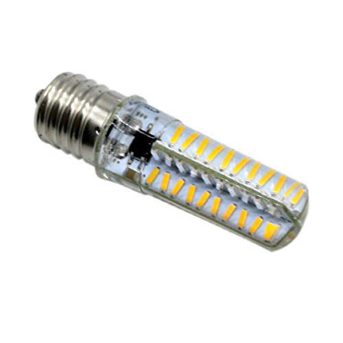 Energie sparen E17 Dimmable Bi-pin LED-Silikonlampe 5 Watt E17-Sockel LED 40W Halogen-Ersatzlampe für Schreibtischlampe LED-Glühlampe AC 110-130V (Farbe : Kaltes Weiß)
