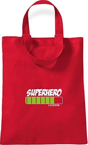 T-shirt In Cotone Piccolo Con Supereroe Caricamento Rosso Rosso