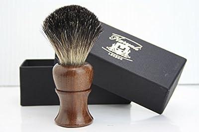 Haryali London BRAND NEW - 100% PURE BADGER HAIR SHAVING BRUSH - Rose Wood Wooden Brush