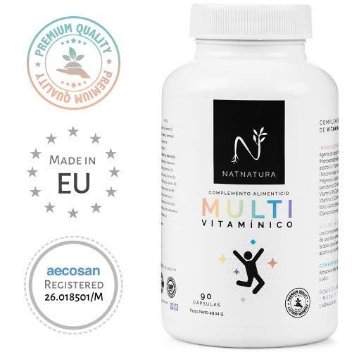 Complejo multivitamínico para hombre y mujer, a base de vitaminas y