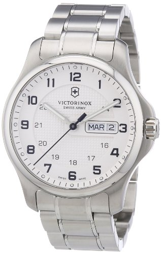 Victorinox-Swiss-Army-Mens-Classic-Officers-Quartz-Watch-with-White-Dial-Analogue-Display-and-Silver-Stainless-Steel-Bracelet