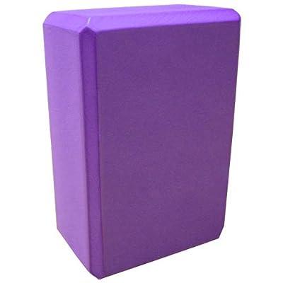 Yogablock, violett, ca. 22 x 15 x 7,5 cm dick