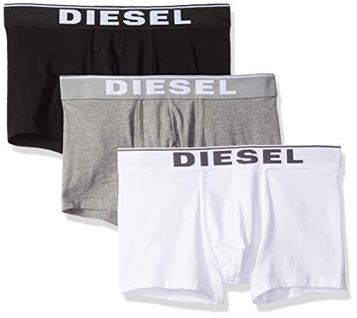 Diesel UMBX-DAMIENTHREEPACK, Slip Homme Multicolore (Dark Grey Melange/Black/Bright White E3843-0Jkkb) S (Lot de 3)