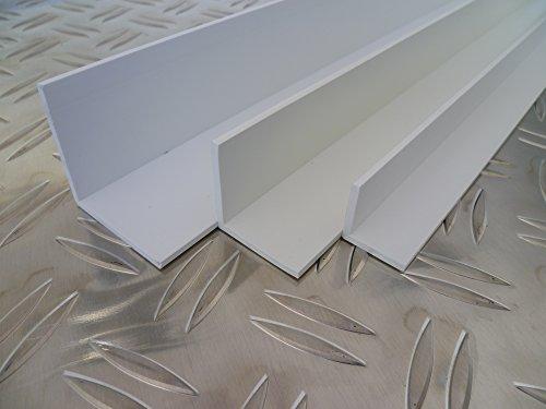 B&T Metall Kunststoffwinkel Hart PVC weiß 50x30x2,5 mm Länge 2 mtr