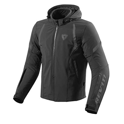 REV'IT! Motorradjacke, Motorrad Jacke Burn Textiljacke schwarz XL, Herren, Chopper/Cruiser, Ganzjährig