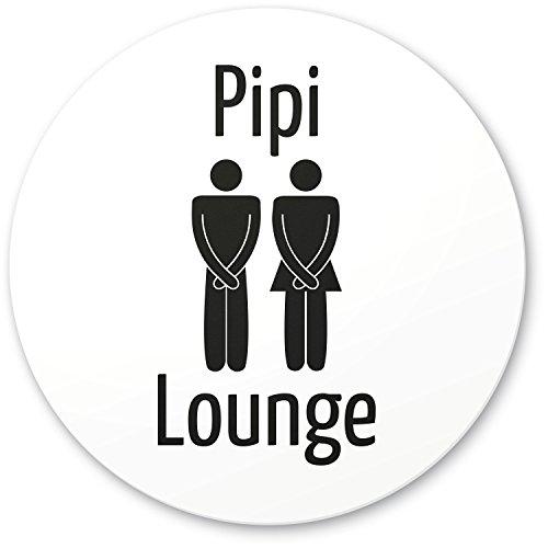 DankeDir! PIPI Lounge Deko WC Kunststoff Schild weiß (20 x 20 cm), Witziges Dekoschild - lustige Wanddeko/Türschild Toilette, Gäste WC, Gästetoilette, Besuchertoilette - Kloschild Einladung Gäste