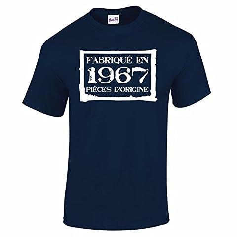 T-Shirt Anniversaire Homme 50 Ans Fabriqué En 1967 Pièces d