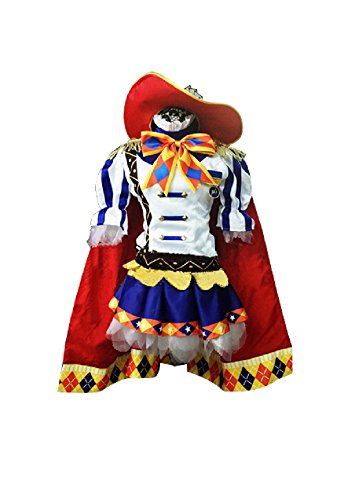 mtxc-womens-love-live-cosplay-costume-rin-hoshizora-magician-themed-cards-size-x-large-red