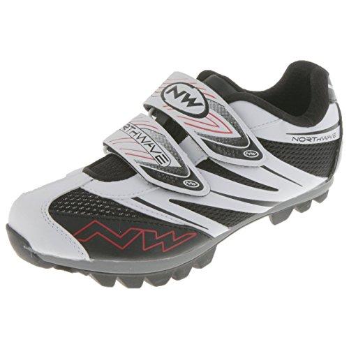 Northwave Spike Pro MTB Fahrrad Schuhe Klettverschluss Schuhplatte Cleats Rad Sport, 80122007, Farbe Weiß, Größe 35 (Fahrrad-schuh-cleats)