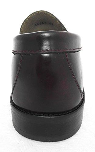 Zerimar Chaussure fabriqué en cuir de haute qualité avec le plancher en cuir Idéal pour habiller et cadres Couleur Bordeaux Bordeaux