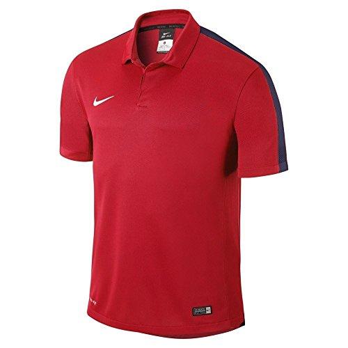 Nike Short Sleeve Polo Squad15 , Crimson/Obsidian/White, M, 645538-662 (Nike Superfly Obra)