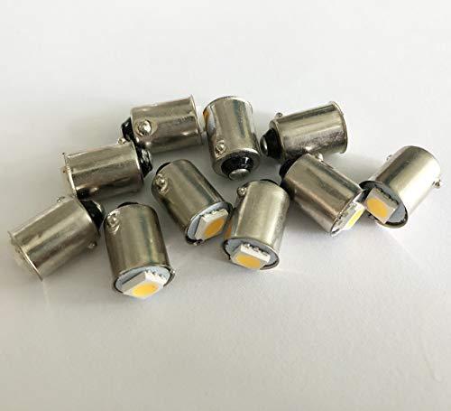 10 x 12 V BA9S T11 baïonnette 1 LED Blanc chaud Tableau de bord Jauge de Dash ampoules
