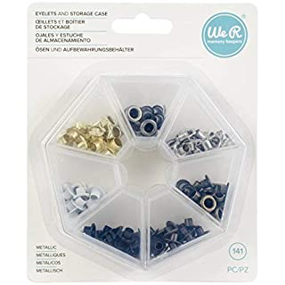 We R Eyelets 140/Pkg-Metallic W/Storage Case