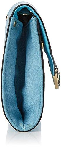 Swanky Swans Damen Bali Snakehead Leather Clutch, 5x16x28.4 cm Blau (Blue)
