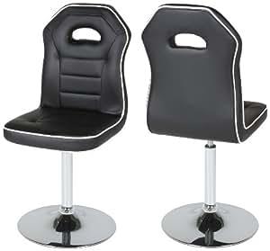 Ac design furniture 49194 esszimmerstuhl 2 er set aubame for Design esszimmerstuhl drehbar