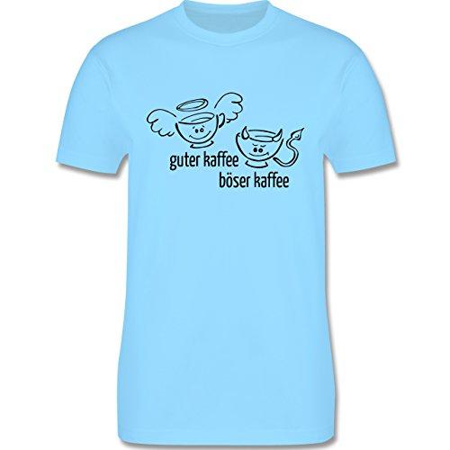 Küche - Guten Kaffee Böser Kaffee - Herren Premium T-Shirt Hellblau