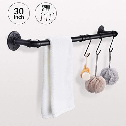Handtuchstange für die Wandmontage, extra lang, für Badezimmer, Küche, Schrank, Handtuchhalter, Kleiderstangen, Schwarz - Schwarz-küche-schränke