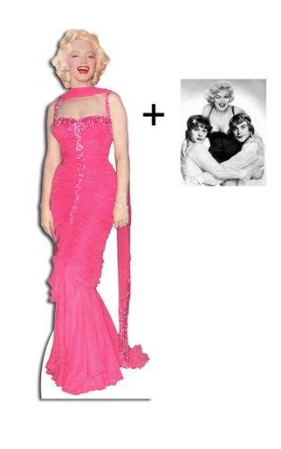 Marilyn Monroe Tragen Pink Evening Gown / Dress - Lebensgrosse Pappfiguren / Stehplatzinhaber / Aufsteller - Enthält 8X10