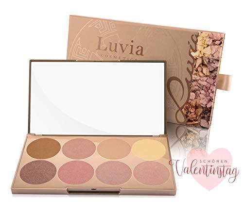 Luvia Highlighter Palette - Prime Glow Mit Extra Feiner Schimmer Und Easy To Blend Textur Für Jeden Hauttyp - Liebenswertes Geschenk für Frauen zum Valentinstag