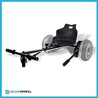 Bluewheel Sitzscooter HK200 Kart Sitz Erweiterung für 6, 5-10 Zoll Self Balance Scooter, Hover, E-Kart, Kart,Elektro Go-Kart, Sitzaufsatz, Schalensitz & Umbausatz, anpassbarer Stahl-Rahmen