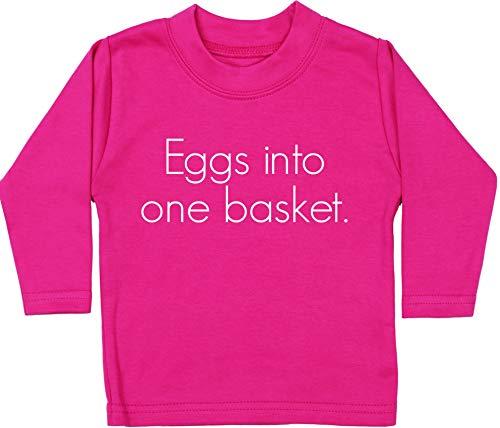 HippoWarehouse Eggs into One Basket Camiseta Unisex bebé Manga Larga