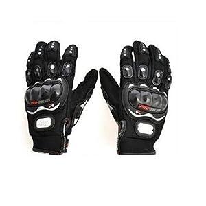 Autofurnish Motorcycle Black Riding Bike Gloves