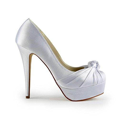 Jia Jia Wedding 20113 chaussures de mariée mariage Escarpins pour femme Blanc