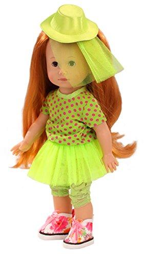 Rot Braune Haare (Götz 1513016 Just like me - Lucia Puppe - 27 cm große Stehpuppe mit extra langen roten Haaren und braunen Schlafaugen - für Kinder ab 3 Jahren)