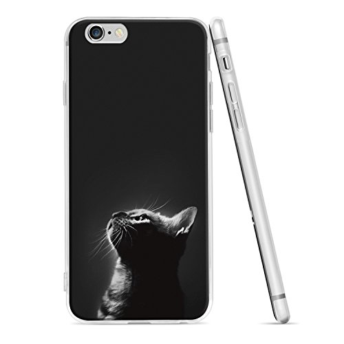 Ayotu iPhone 6 Plus Case/iPhone 6s Plus Case,Ultra Light Slim Case with Anti-Scratch Shockproof Bumper Soft TPU Silicone Frame Protective Phone Case Cover Skin for Apple iPhone 6 Plus / 6s Plus (5.5 i AA-The Cat 2