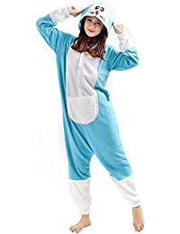 YARBAR Kigurumi Pijamas Unisexo Adulto Traje Disfraz de Halloween Animal Pyjamas Doraemon