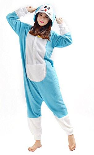 Imagen de yarbar kigurumi pijamas unisexo adulto traje disfraz de halloween animal pyjamas doraemon