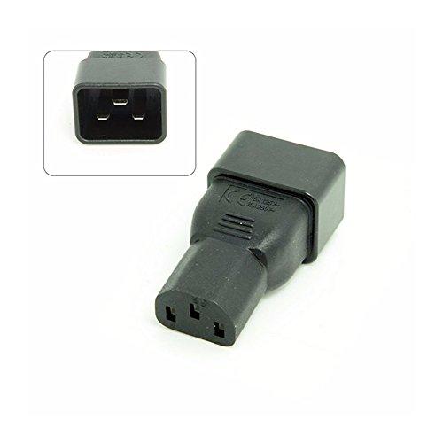 IEC 320 IEC320 C13 IEC C13 Buchse auf IEC Stecker C20 Power Mains Extension Adapter Adapterstecker für PDU USV 10A bis 16A -