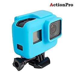 Action Pro Gopro Accessories Blue Silicone Cover Side Frame Case for Gopro Hero 6 5 Action Camera