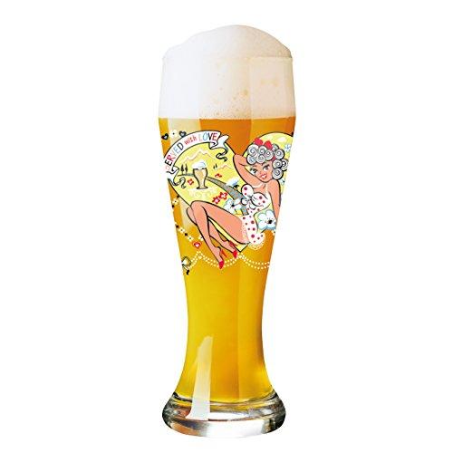Ritzenhoff 1020206 Weizen Weizenbierglas, Glas, mehrfarbig, 8.5 x 8.5 x 23 cm