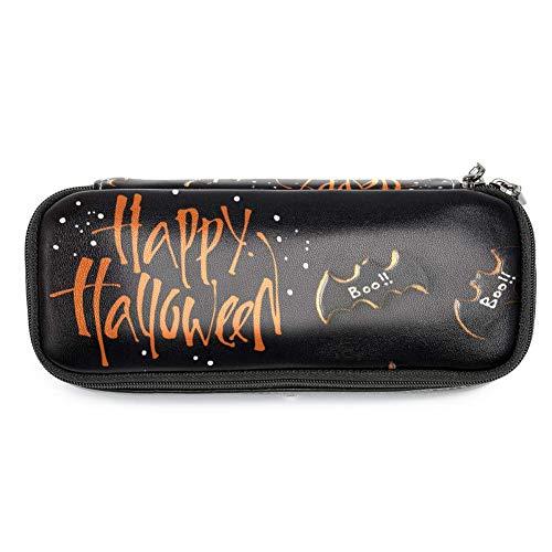 en für Halloween, Fledermaus, Kekse, Federmäppchen, Make-up-Tasche für Studenten, Schreibwaren, Stifthalter für Schule/Büro ()